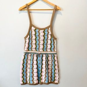 Urban Outfitters 100% Cotton Tank Romper NWOT